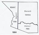Arizona Territory Counties 1864